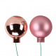Foil ball 30mm, 72 pieces in box, pink matte + g